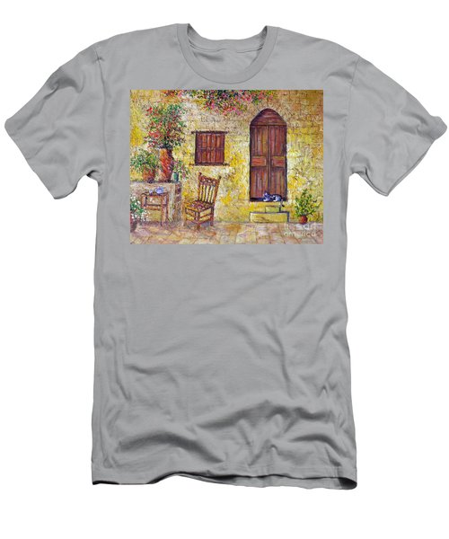 The Old Chair Men's T-Shirt (Slim Fit) by Lou Ann Bagnall