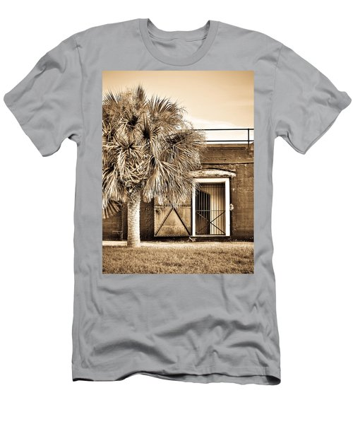 The Old Fort-sepia Men's T-Shirt (Athletic Fit)