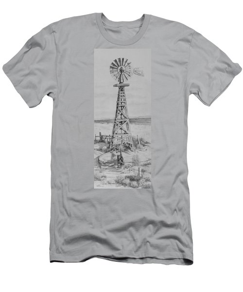 Lonely Windmill Men's T-Shirt (Athletic Fit)