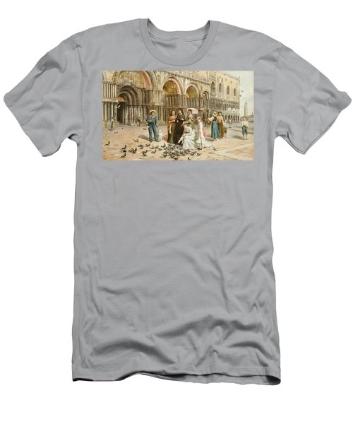 The Pigeons Of St Mark S Men's T-Shirt (Athletic Fit)