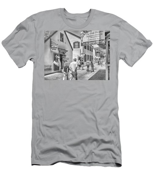 Men's T-Shirt (Slim Fit) featuring the photograph The Pink Petunia by Howard Salmon