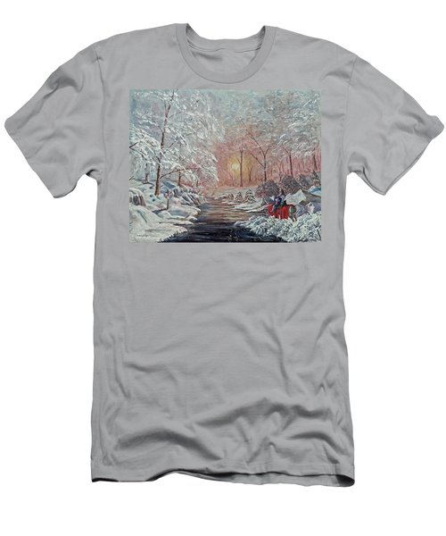 Men's T-Shirt (Slim Fit) featuring the painting The Quest Begins by Anthony Lyon