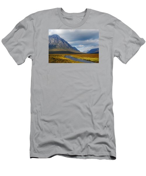 Men's T-Shirt (Slim Fit) featuring the photograph The River Runs Through It by Wendy Wilton