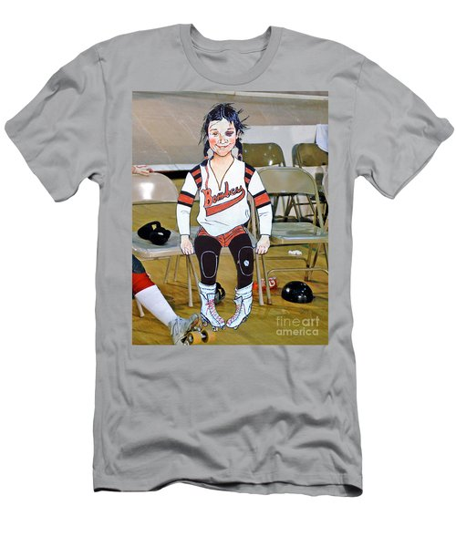 The Roller Derby Girl With A Black Eye Men's T-Shirt (Athletic Fit)