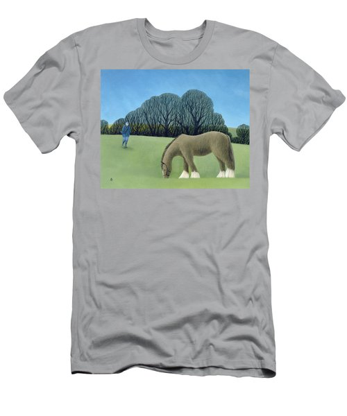 The Shire Horse, 2006 Oil On Canvas Men's T-Shirt (Athletic Fit)