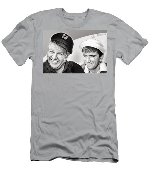 The Skipper And Gilligan Men's T-Shirt (Slim Fit) by Greg Joens