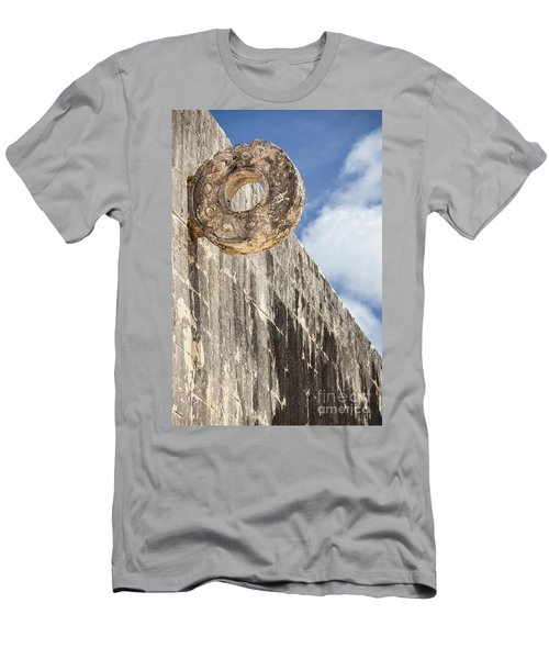 The Stone Ring At The Great Mayan Ball Court Of Chichen Itza Men's T-Shirt (Athletic Fit)