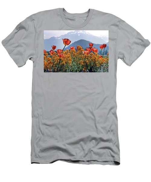 Men's T-Shirt (Athletic Fit) featuring the photograph The Tulips In Bloom by KG Thienemann