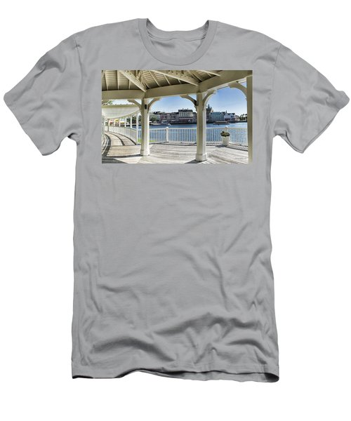 The View From The Boardwalk Gazebo At Disney World Men's T-Shirt (Athletic Fit)