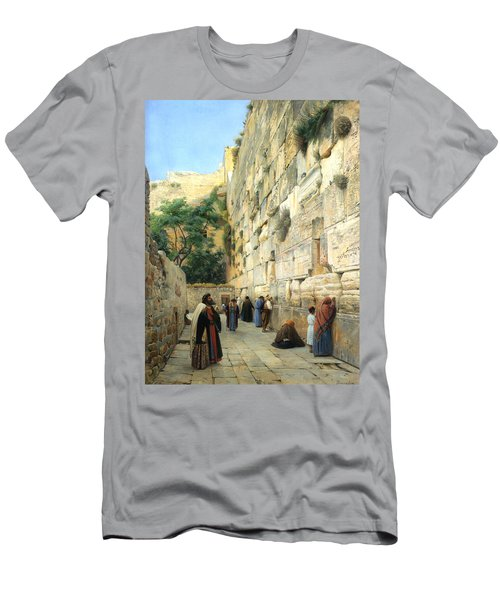 The Wailing Wall Jerusalem Men's T-Shirt (Athletic Fit)
