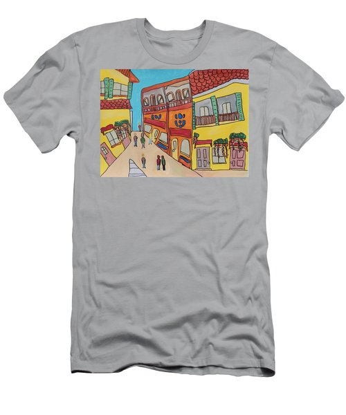 The Walled City Men's T-Shirt (Slim Fit) by Artists With Autism Inc