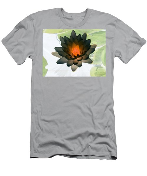 Men's T-Shirt (Slim Fit) featuring the photograph The Water Lilies Collection - Photopower 1035 by Pamela Critchlow