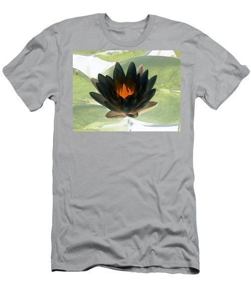 Men's T-Shirt (Slim Fit) featuring the photograph The Water Lilies Collection - Photopower 1037 by Pamela Critchlow