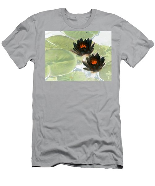 Men's T-Shirt (Slim Fit) featuring the photograph The Water Lilies Collection - Photopower 1039 by Pamela Critchlow