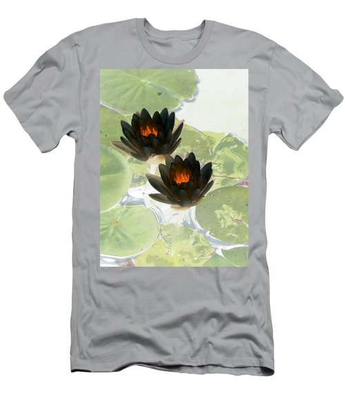 Men's T-Shirt (Slim Fit) featuring the photograph The Water Lilies Collection - Photopower 1040 by Pamela Critchlow