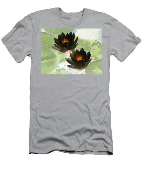 Men's T-Shirt (Slim Fit) featuring the photograph The Water Lilies Collection - Photopower 1041 by Pamela Critchlow