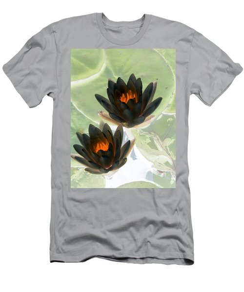 Men's T-Shirt (Slim Fit) featuring the photograph The Water Lilies Collection - Photopower 1046 by Pamela Critchlow