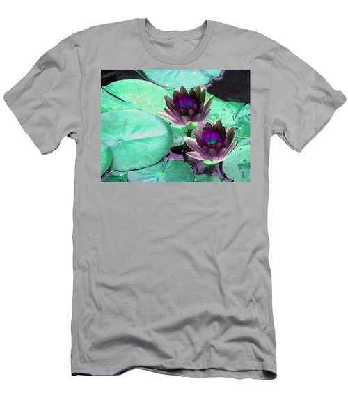 Men's T-Shirt (Slim Fit) featuring the photograph The Water Lilies Collection - Photopower 1118 by Pamela Critchlow