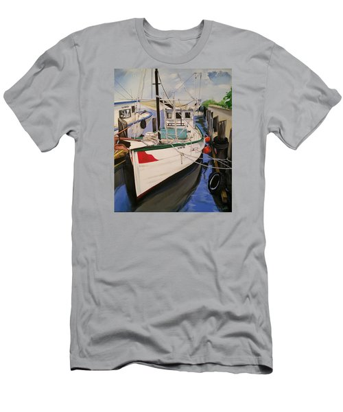 The Wooden Work Boats Men's T-Shirt (Athletic Fit)