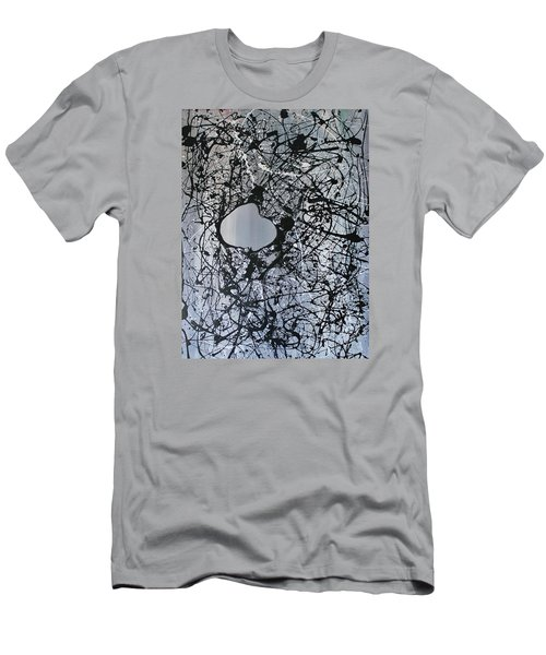 Men's T-Shirt (Slim Fit) featuring the painting There Is A Hole In The Bucket by Michael Cross
