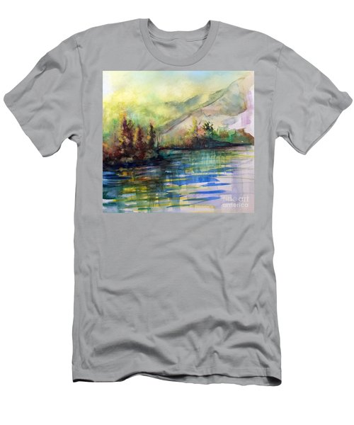 Men's T-Shirt (Slim Fit) featuring the painting Thinking Of Sargent by Allison Ashton