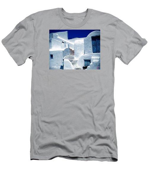 Thirasia Island Ancient House Near Santorini Greece Men's T-Shirt (Slim Fit) by Colette V Hera  Guggenheim