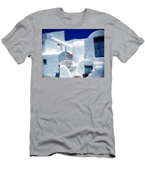 Thirasia Island Ancient House Near Santorini Greece Men's T-Shirt (Athletic Fit)