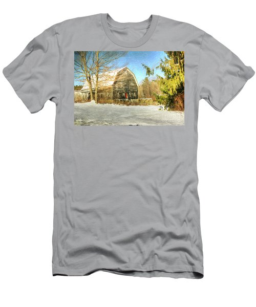 This Old Barn Men's T-Shirt (Slim Fit) by Tina  LeCour