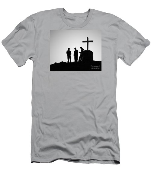 Three At The Cross Men's T-Shirt (Athletic Fit)