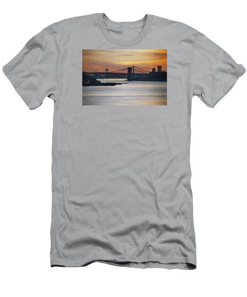 Three Bridges Men's T-Shirt (Slim Fit) by John Schneider