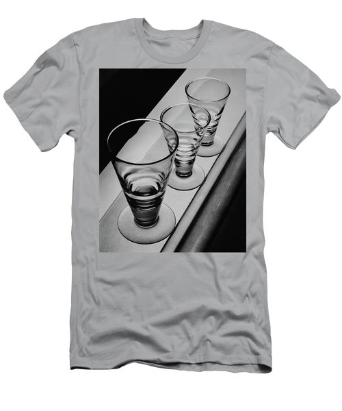 Three Glasses On A Shelf Men's T-Shirt (Athletic Fit)