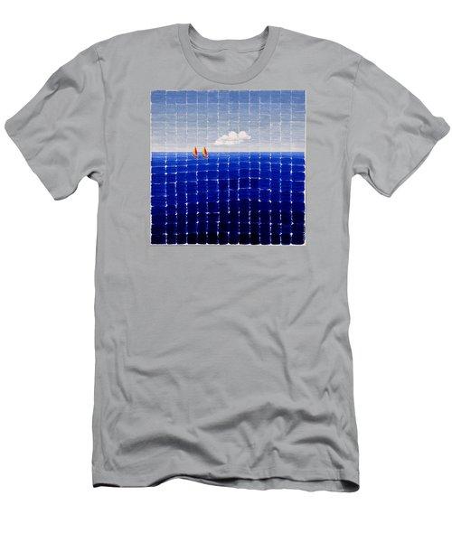 Three Sail Boats #2 Men's T-Shirt (Athletic Fit)