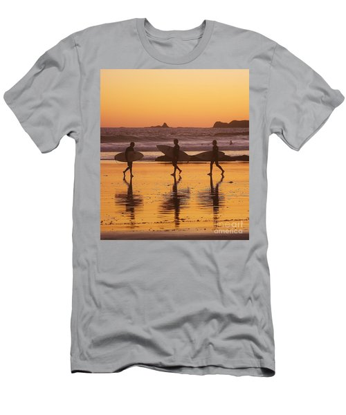 Three Surfers At Sunset Men's T-Shirt (Athletic Fit)