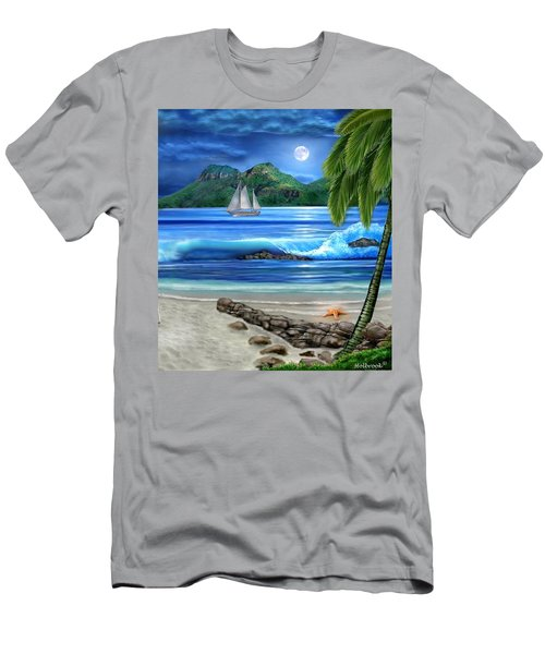 Tropical Paradise Men's T-Shirt (Slim Fit) by Glenn Holbrook
