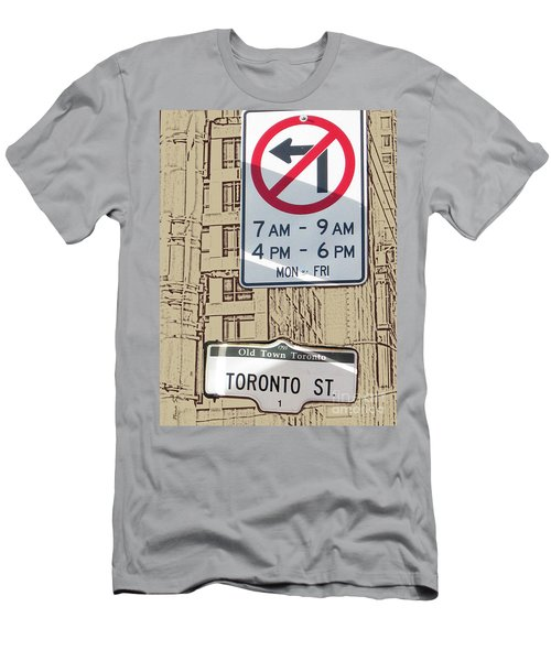 Toronto Street Sign Men's T-Shirt (Athletic Fit)