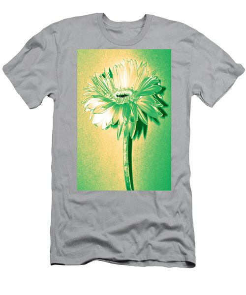 Touch Of Turquoise Zinnia Men's T-Shirt (Athletic Fit)