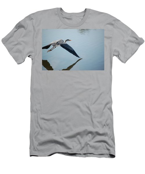 Touch The Water With A Wing Men's T-Shirt (Slim Fit) by Randy J Heath