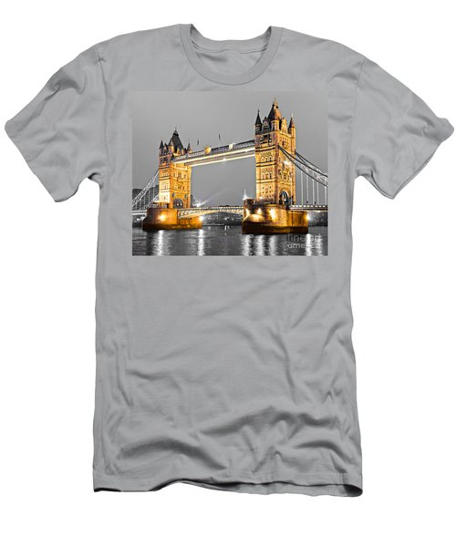 Tower Bridge - London - Uk Men's T-Shirt (Slim Fit) by Luciano Mortula