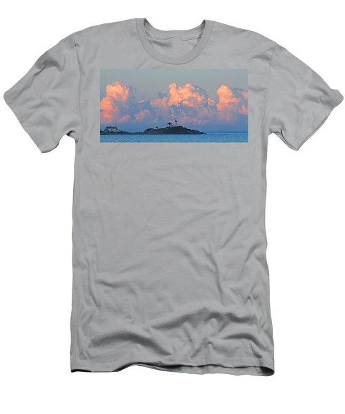 Towering Clouds Over Nubble Lighthouse York Maine Men's T-Shirt (Athletic Fit)