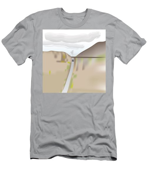 Train Landscape Men's T-Shirt (Athletic Fit)