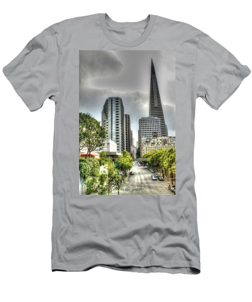 Transmerica Pyramid From The Embarcadero Men's T-Shirt (Athletic Fit)