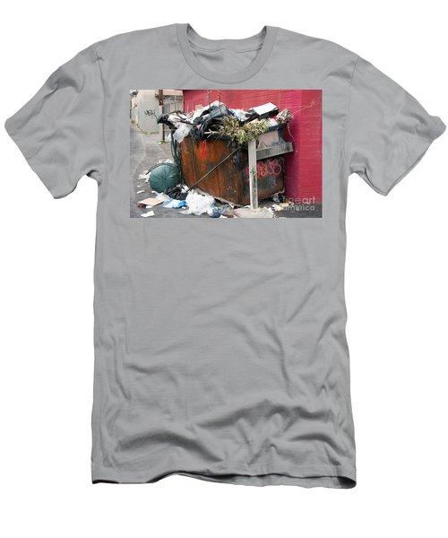 Men's T-Shirt (Slim Fit) featuring the photograph Trash Dumpster In Slums by Gunter Nezhoda