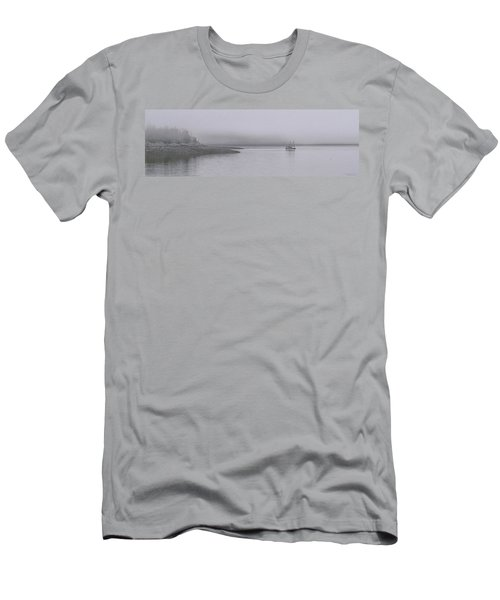 Men's T-Shirt (Slim Fit) featuring the photograph Trawler In Fog by Marty Saccone