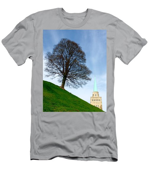 Tree On A Hill Men's T-Shirt (Athletic Fit)