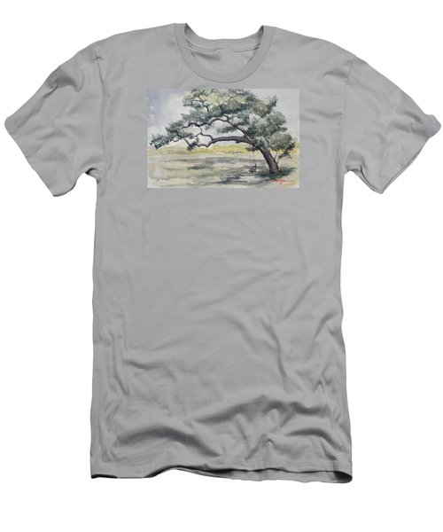 Da187 Tree Swing Painting By Daniel Adams Men's T-Shirt (Athletic Fit)