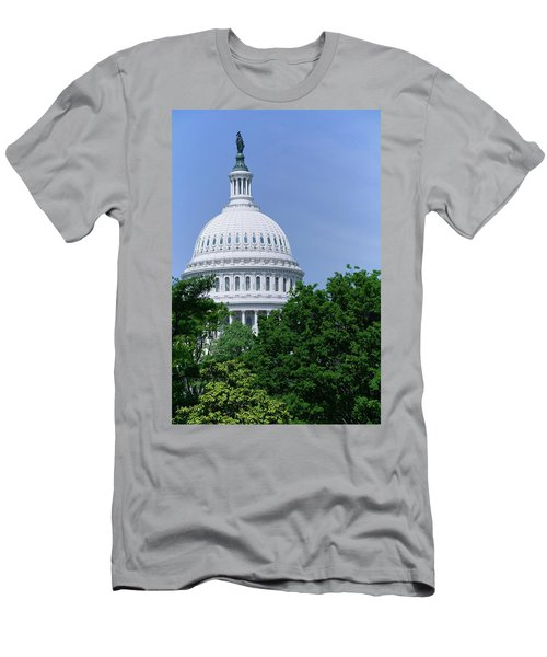 Trees In Spring And U.s. Capitol Dome Men's T-Shirt (Athletic Fit)