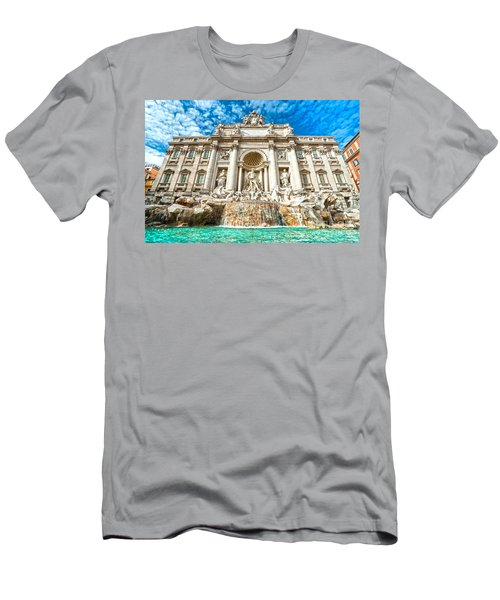 Trevi Fountain - Rome Men's T-Shirt (Slim Fit) by Luciano Mortula