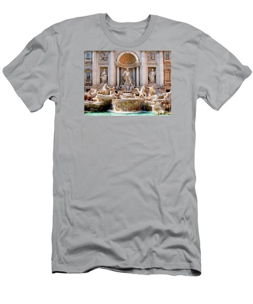 3 Coins Trevi. Rome Men's T-Shirt (Slim Fit) by Jennie Breeze