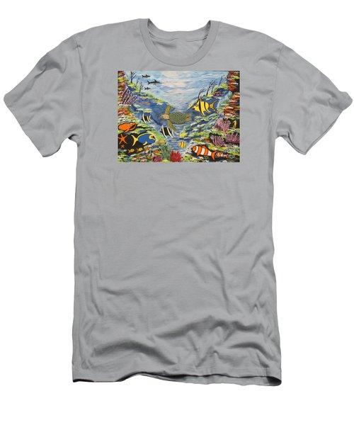 Tropical Paradise Men's T-Shirt (Slim Fit) by Jeffrey Koss
