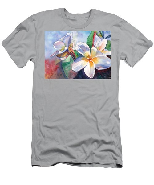 Tropical Plumeria Flowers Men's T-Shirt (Athletic Fit)
